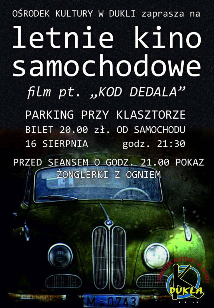 Letnie kino samochodowe w Dukli