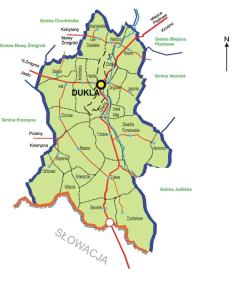 Mapa Gminy Dukla