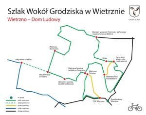 Szlak rowerowy wokół grodziska w Wietrznie