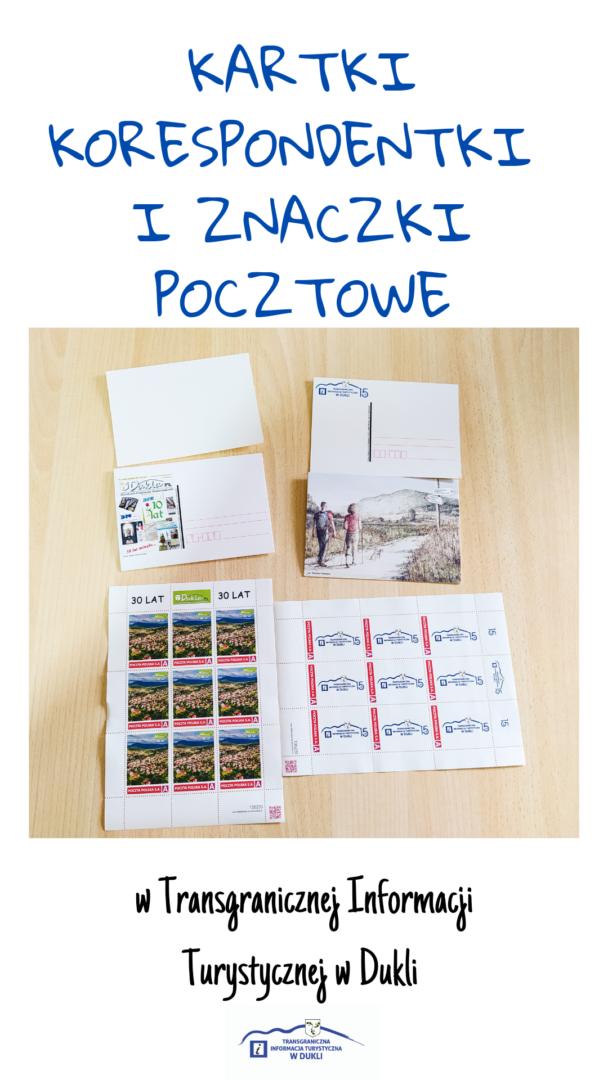 Kolekcjonerskie kartki korespondentki i znaczki pocztowe w Transgranicznej Informacji Turystycznej w Dukli