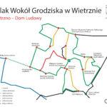 Tablica szlak Wokół Grodziska w Wietrznie