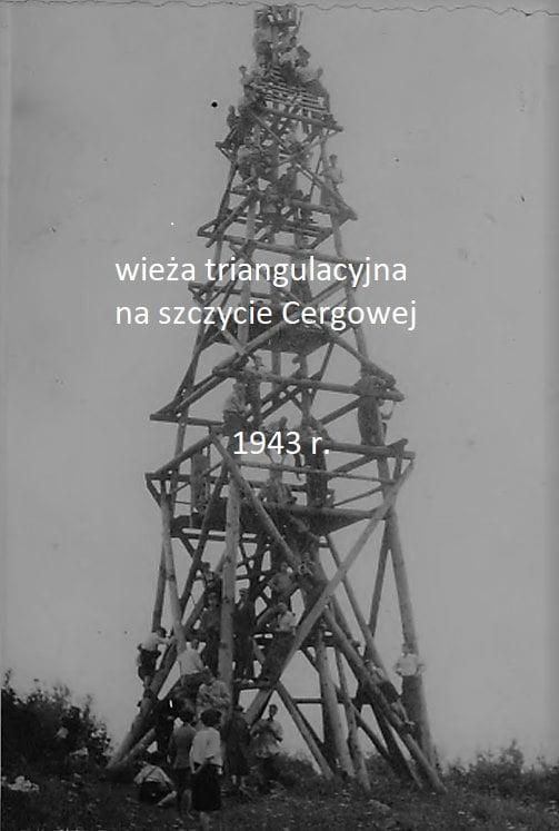 Wieża triangulacyjna na Górze Cergowej